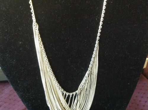 Solid Sterling Silver Necklace, Handmade, 20 inches in length.