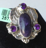 Yes SOLD. Sterling Silver Utah Tiffany Stone Ring, size 7, Artisan Crafted