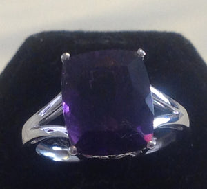 Sterling Silver Lusaka Amethyst Ring, size 6 and 7.5