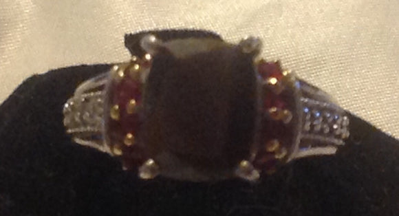 Sterling Silver Madagascar Chocolate Sapphire Ring, size 7