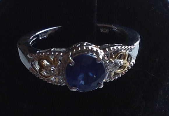 Yes SOLD. Sterling Silver Masoala Blue Sapphire Ring, size 8