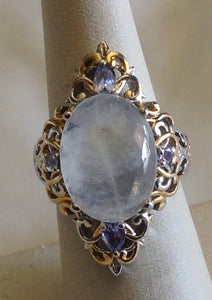 Yes SOLD. Sterling Silver  Sri Lanka Rainbow Moonstone Ring, size 6