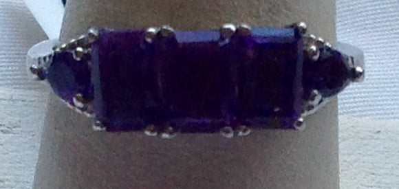 Yes SOLD. Sterling Silver Lusaka Amethyst Ring, size 8