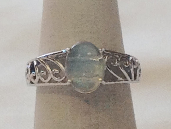 Sterling Silver Ethiopian Welo Opal Ring, size 6