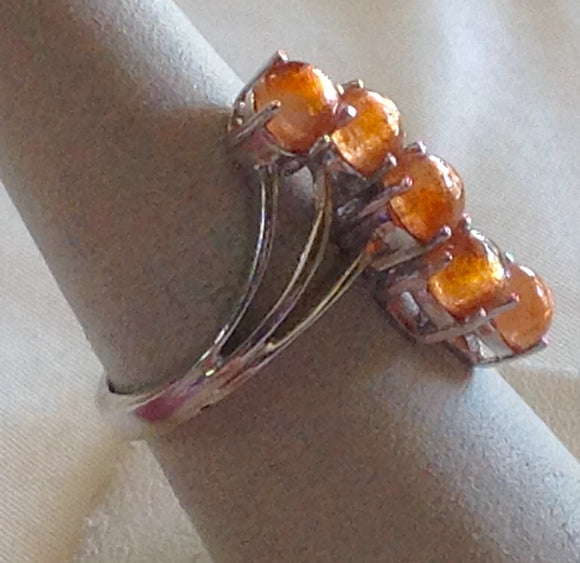 Sterling Silver Sri Lanka Sunstone Ring, size 7
