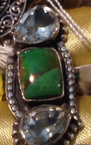 Sterling Silver Mojave Green Turquoise Ring, size 6