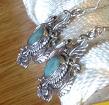 Sterling Silver Earrings:  Emerald, Artisan Crafted, hook style
