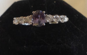 Sterling Silver Peacock Tanzanite Ring, size 8