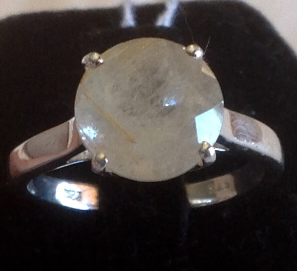 Sterling Silver Aurelia Rutilated Quartz Ring, size 7