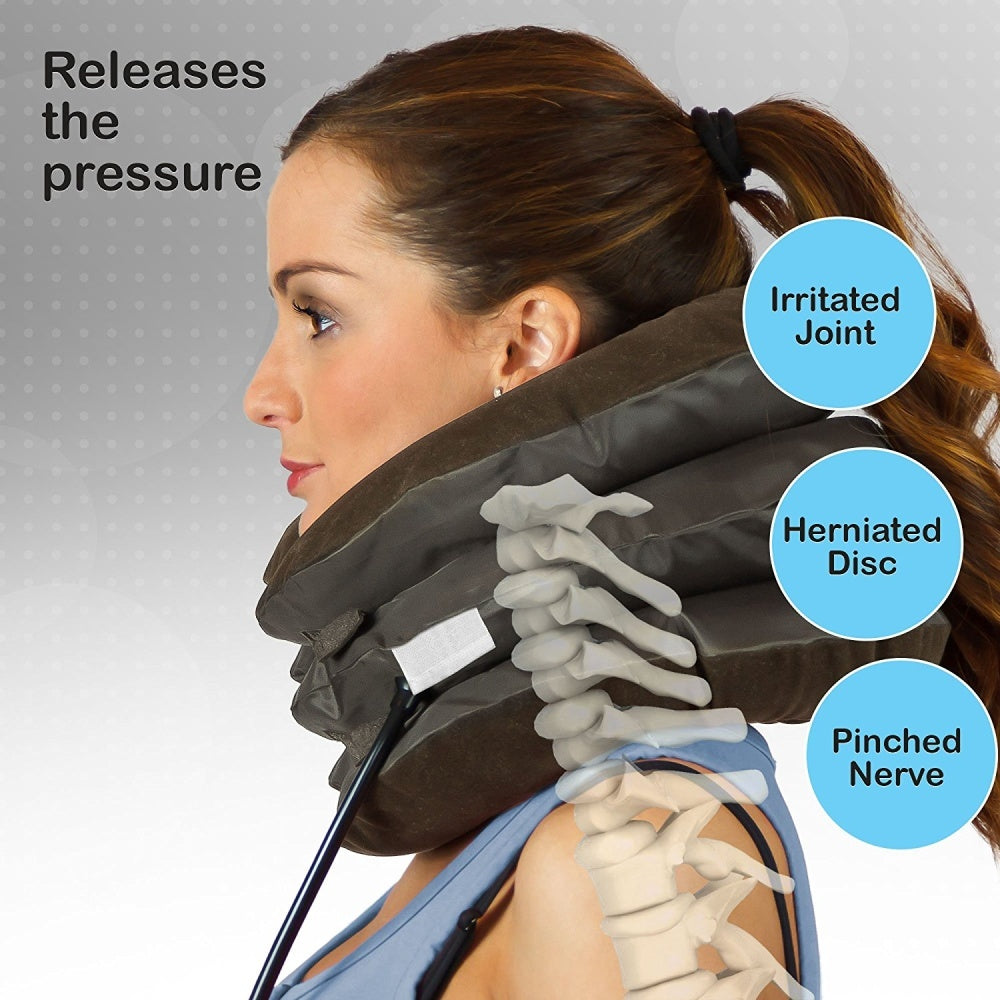 bestrelief cervical neck traction device provides fast neck pain relief and a faster recovery from neck injuries without the need for medications or