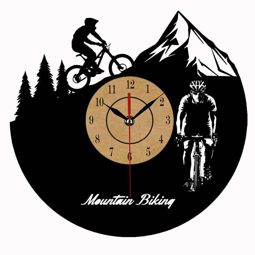 Mountain Biking Vinyl Record Clock - Better Day