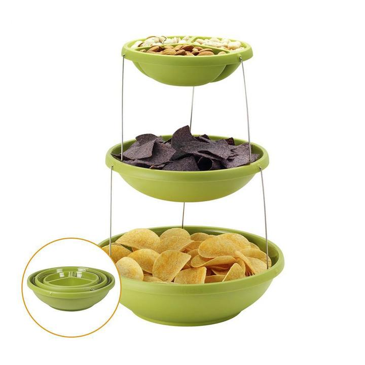 3 Tier Twisted Party Bowl