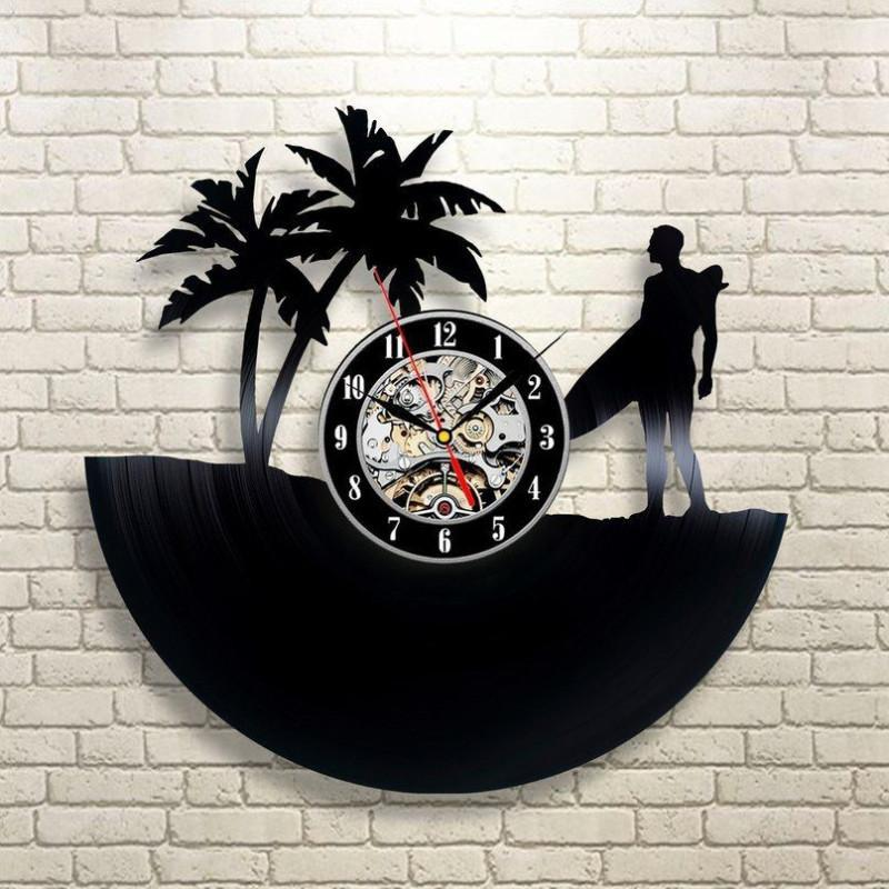 Surf's Up Vinyl Wall Clock - Better Day