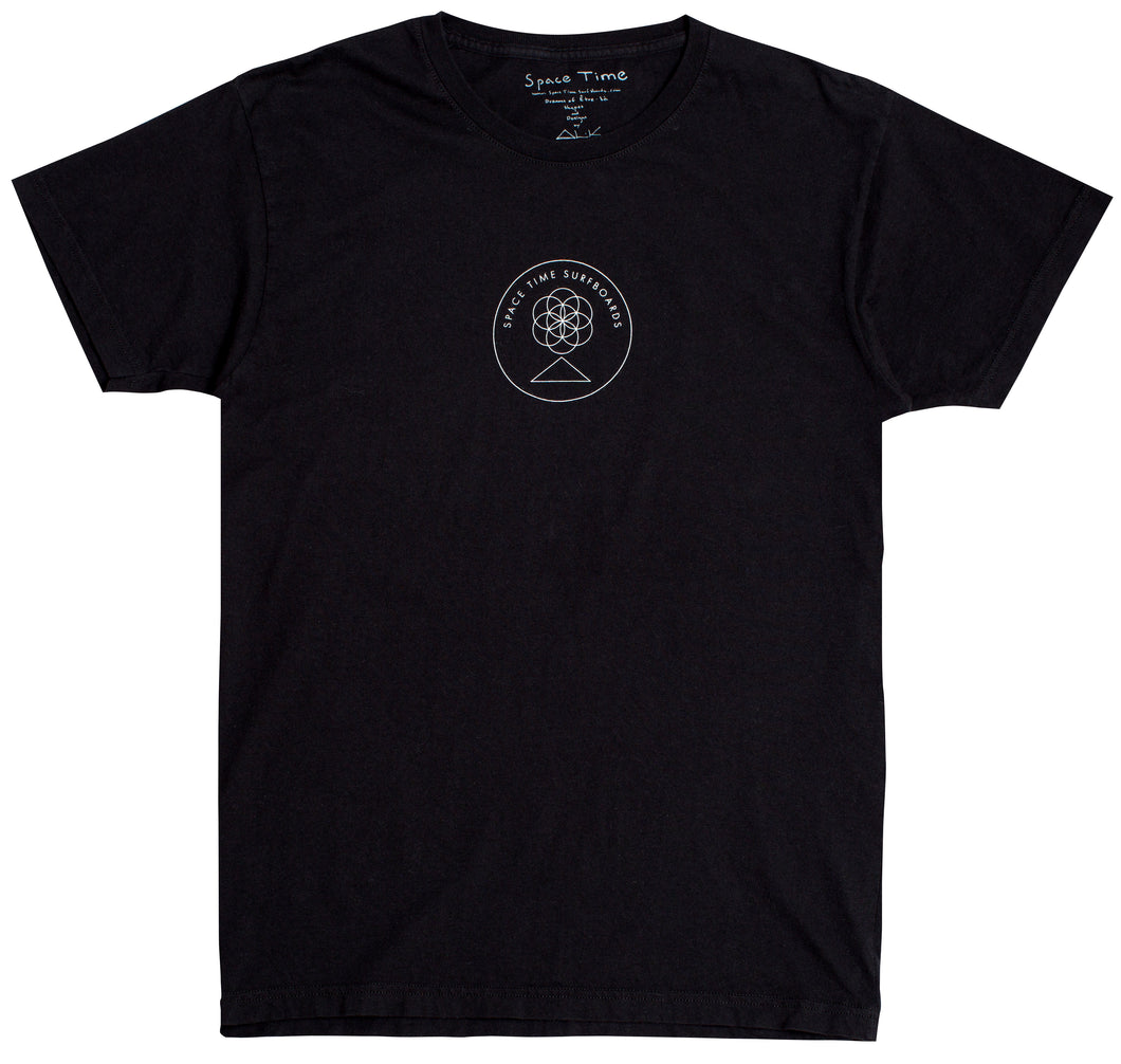 Space Time Surfboards Sphere logo tee