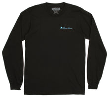 DT096 - Donald Takayama L/S 4-bird tee (light blue 4-bird logo) - Black