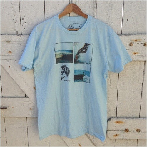 NKOT001 - Noah Ka Oi photo collage tee - Light blue