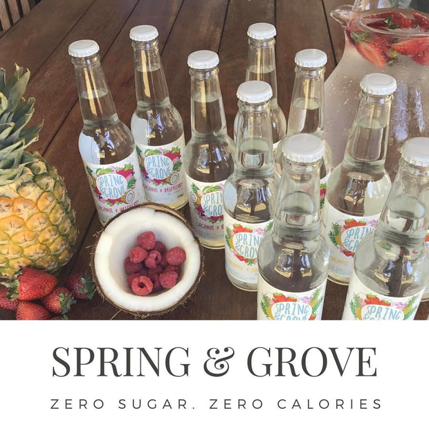 SPRING & GROVE ALL NATURAL DRINKS - NO SUGAR