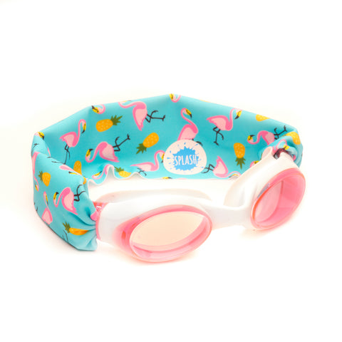 Flamingo Island Swim Goggles - Splash Swim Goggles