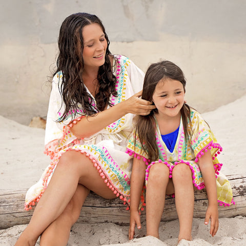Pom Pom Swim Suit Cover Up - Mommy & Me