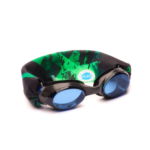 Green Fusion Swim Goggles - Splash Swim Goggles