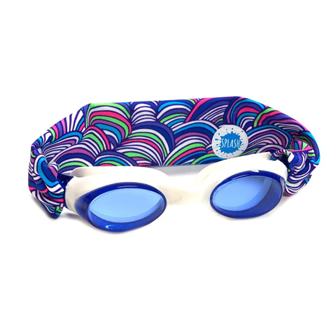Over The Rainbow Swim Goggles - Splash Swim Goggles