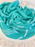 Teal Roundie Turkish Towel by Splash Swim Goggles - Beach, Pool and Travel Peshtemal - Splash Swim Goggles