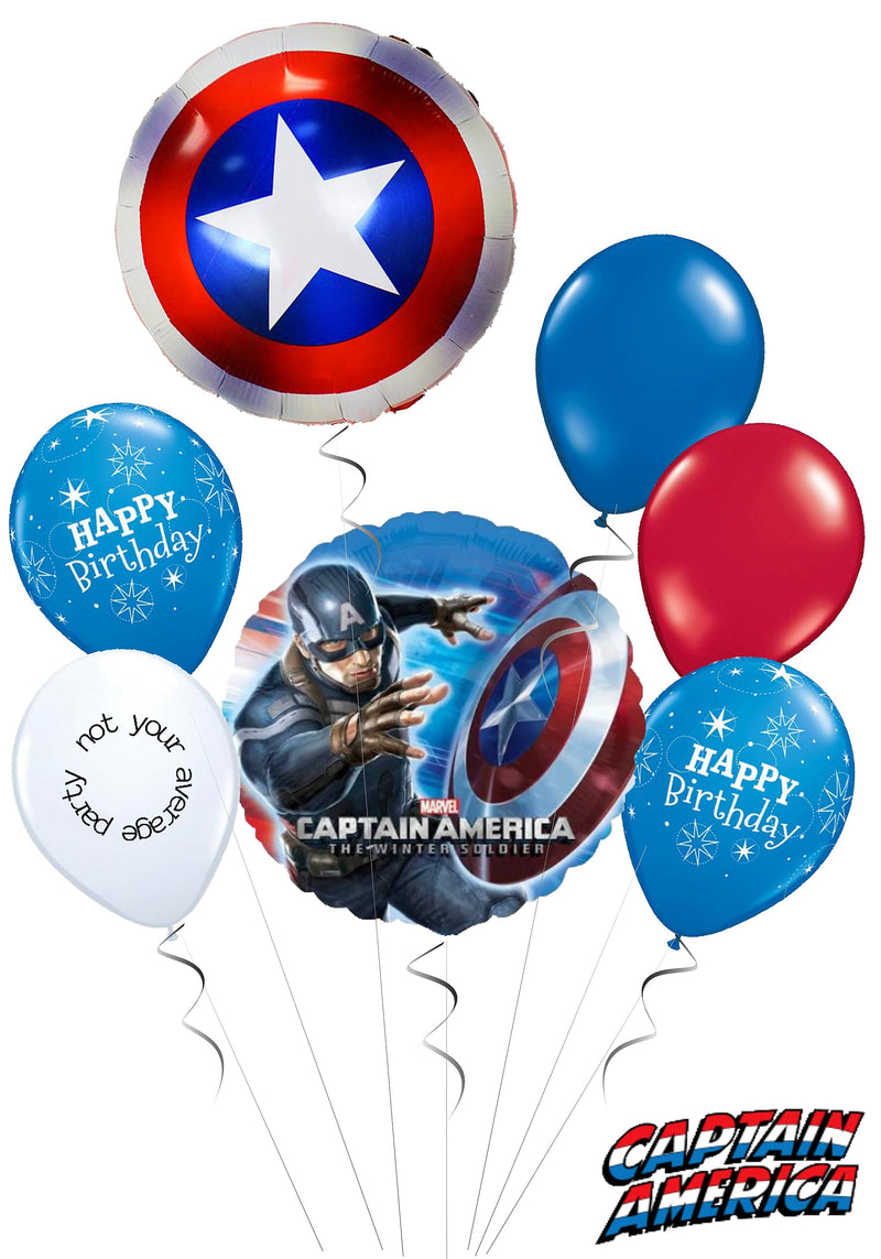Balloon Bouquets Tagged Captain America Not Your Average Party