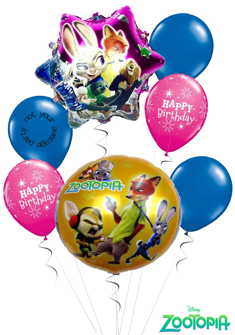 Zootopia Birthday Balloon Bouquet