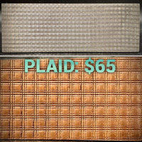 Plaid Texture Plate PREORDER