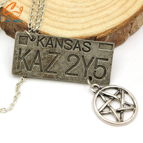 Dean's Kansas KAZ 2Y5 Impala License Plate Number Necklace