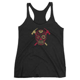 SF Sugar Skull Ladies Triblend Tank
