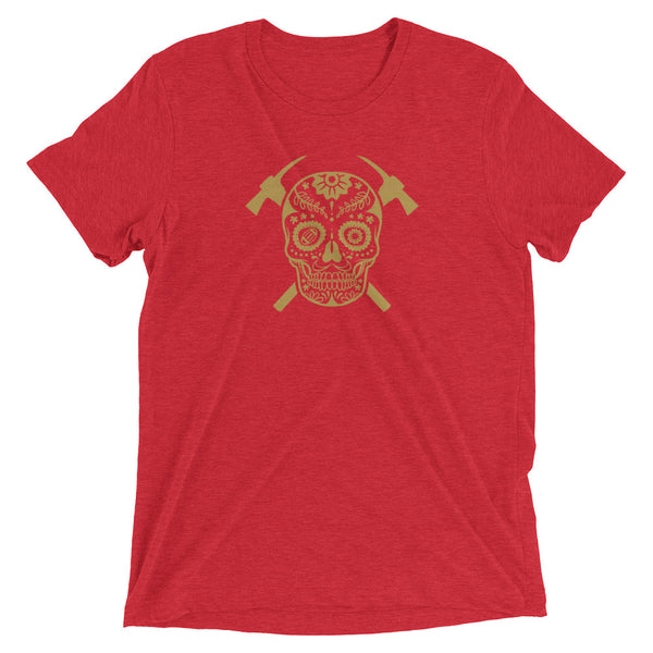 SF Sugar Skull Mens Triblend Shirt