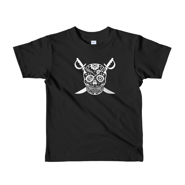 Black Hole Skull Kids Shirt