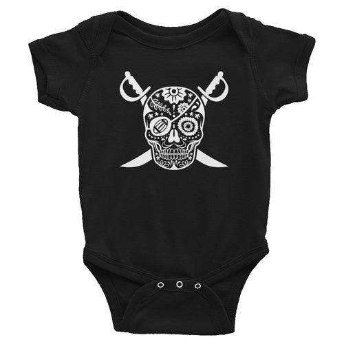 Black Hole Skull Baby Bodysuit