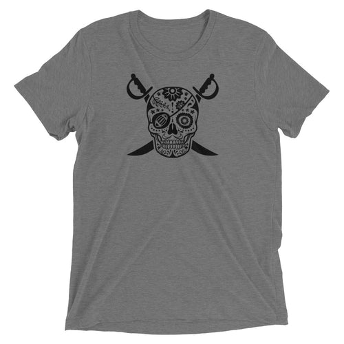 Black Hole Skull Mens Triblend Shirt
