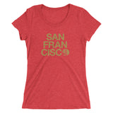 San Francisco Ladies Triblend Tee