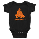 Squat Goals Baby Bodysuit