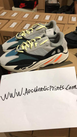 UA adidas X Kanye west yeezy boost runner 700 aqua blue and gray Sneaker