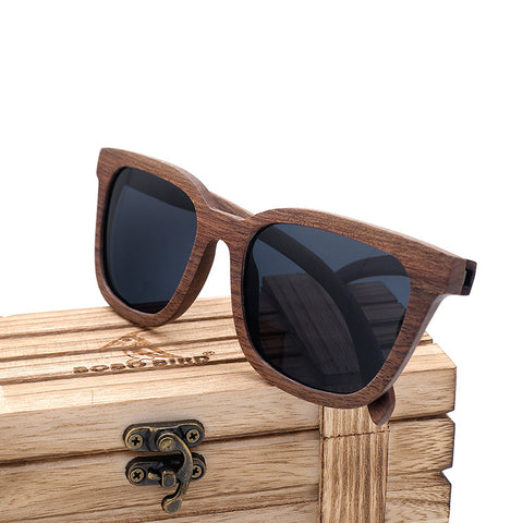 Black Walnut Wood/bamboo Polarized Sunglasses,- Aesthetic rave party cool clotheS APPAREL replica yeezy shoes