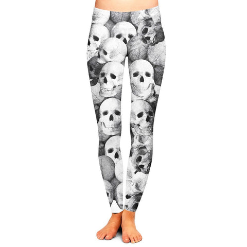 Skull Leggings,- Aesthetic rave party cool clotheS APPAREL replica yeezy shoes