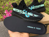 CUSTOM SNAKE ADIDAS YEEZY BOOST V2 BABY BLUE STIPE,- Aesthetic best website to buy quality replica ua adidas yeezy boost 350 v1 and v2 sneakers