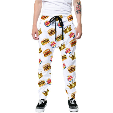 Burger King Joggers,- Aesthetic rave party cool clotheS APPAREL replica yeezy shoes