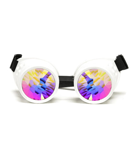 GloFX White Kaleidoscope Goggles,- Aesthetic best website to buy quality replica ua adidas yeezy boost 350 v1 and v2 sneakers