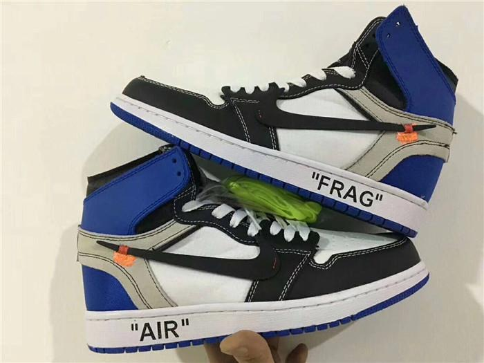 48dfd18eaa7e UA Replica Virgil Abloh OFF-WHITE x Fragment Design x Air Jordan 1 Royal  Blue