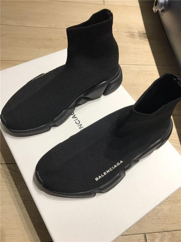 NEW  replica Balenciaga ALL BLACK  Speed Trainer -yeezy boostv2-ua-hypebeast-designer replicas clothing