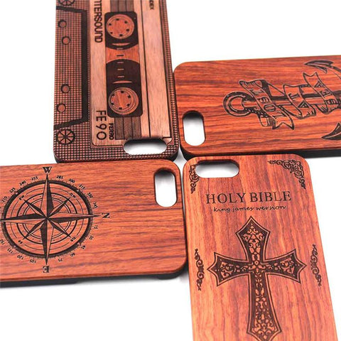 thin hard case shell Bamboo carved engraved Wood Phone Case For Iphones
