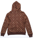 Sup Monogram hoodie (red, black , brown)