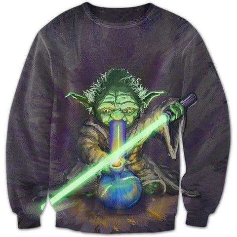 Jedi bong ripping sweatshirt,- Aesthetic best website to buy quality replica ua adidas yeezy boost 350 v1 and v2 sneakers