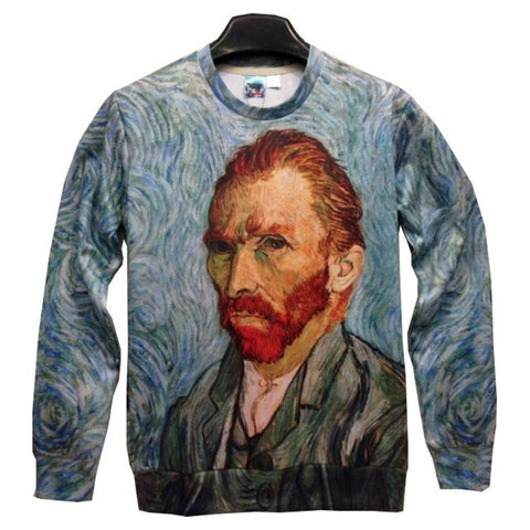 Van gough oil painting sweatshirt,- Aesthetic best website to buy quality replica ua adidas yeezy boost 350 v1 and v2 sneakers