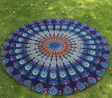 Round Hippie Boho Tapestry Beach/Picnic Mat Blanket,- Aesthetic rave party cool clotheS APPAREL replica yeezy shoes